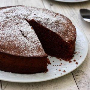 Gâteau au chocolat au chocolat noir