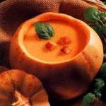 beignets et soupe à la citrouille