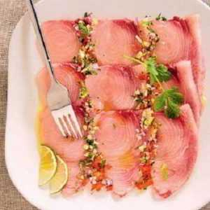 Carpaccio de saumon et espadon