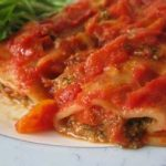 Recette Cannellonis farcis aux épinards et rôti de porc