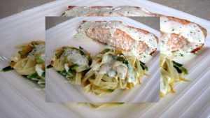 Recette Darne de saumon à la crème de basilic