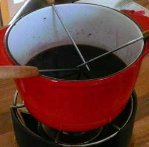 Recette Fondue au pinot noir