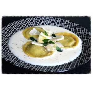 Recette grosses ravioles sauce parmesan