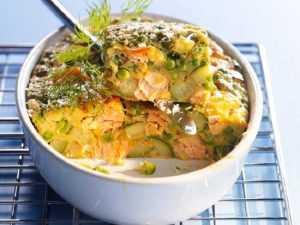 Recette Mousseline de légumes en gratin