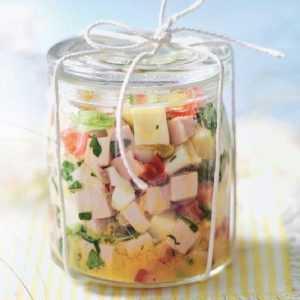 Recette Salade de gouda et cervelas