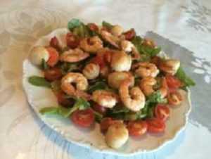 Recette salade de Saint-Jacques et langoustines
