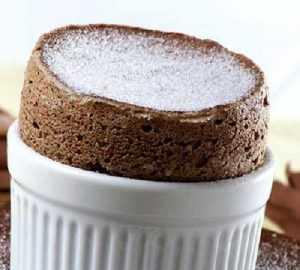 Recette soufflé au chocolat et gingembre confit