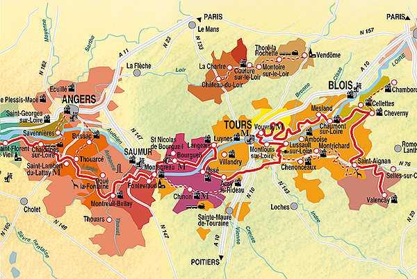 Les mets et les vins du val de Loire: Touraine