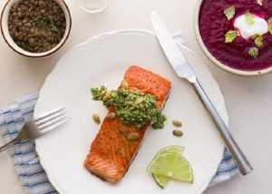 Recette escalope de saumon au pesto d'aneth