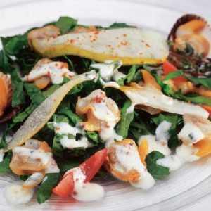 Recette salade d'épinard aux coques et au yaourt