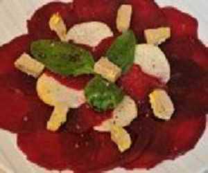 Carpaccio de betterave au foie gras de Pâques
