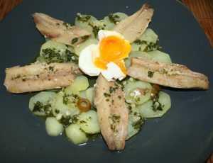 Recette sardines marinées en salade de pommes de terre