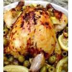Recette poulet aux olives et citrons confits