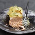 Recette pavé de saumon en écailles de pommes de terre et romarin