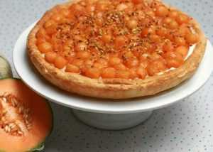 Recette tarte au melon