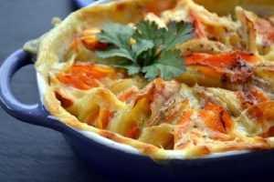 Recette gratin de panaïs carottes et pommes de terre