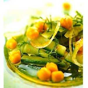 Recette salade pois chiche et concombre à la libanaise
