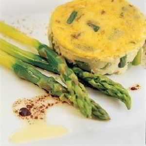 Recette Flan aux asperges vertes, escargots et noix