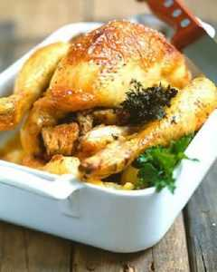 Recette poulet entier en cuisson douce