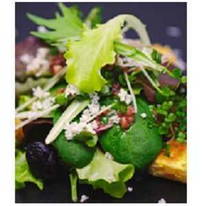 Recette salade de mesclun poulet au curry et tomates confites