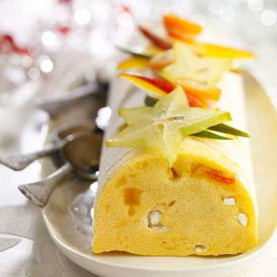 buche glacee aux fruits- recette express