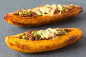 Recette bananes farcies à la viande