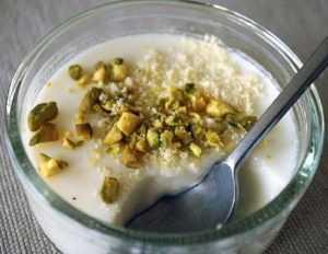 Recette Flan libanais à la mousse de riz