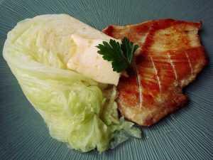 Recette grillade de porc et chou vert