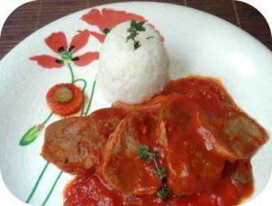 Recette langue de veau à la sauce tomate