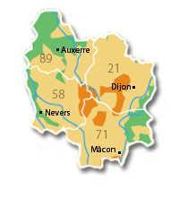 dpts Bourgogne