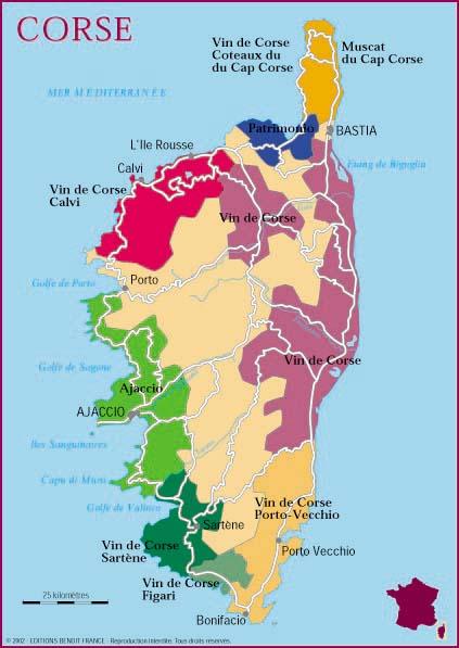 Les vins de Corse et les mets