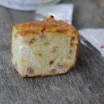 Cake aux lardons, tomates et kiri