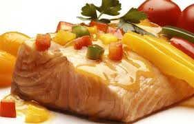 plat de saumon frais