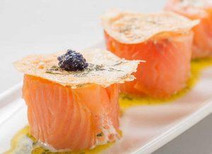recette rouleaux de saumon fume