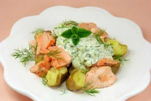 Recette de Salade de Saumon frais