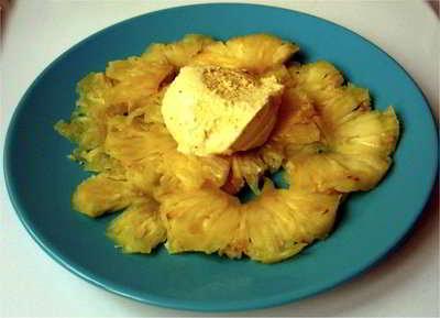 ananas en carpaccio