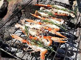 langoustine au barbecue