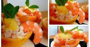 pamplemousse au crabe et aux crevettes