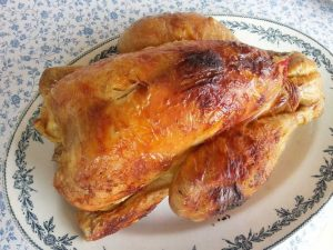 poulet roti à l envers