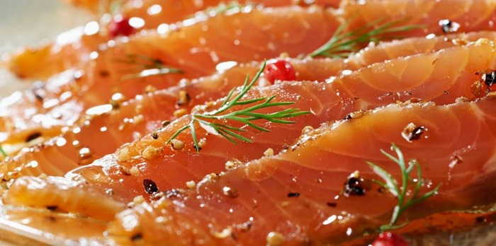 saumon marine à l'aneth