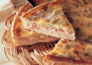 Tarte à la Rhubarbe et au Coulis de fraise