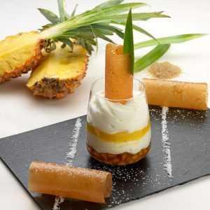 Recette blanc-manger à l'ananas confit