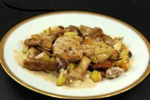 Recette Cassolette de foie gras et de cèpes au piment d'Espelette