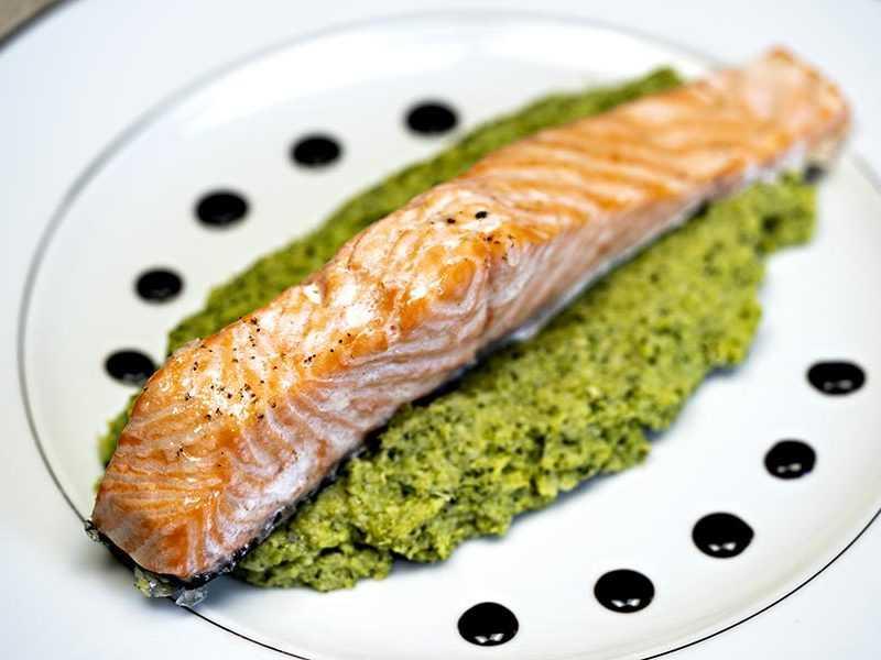 Recette dos de saumon et purée de cresson