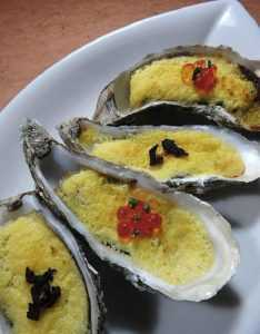 Recette huîtres chaudes au caviar