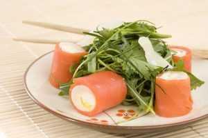 Recette Maki de saumon fumé croustillant