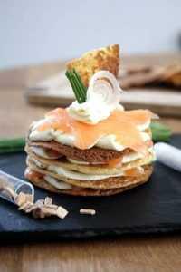 Recette Millefeuille de saumon au mascarpone