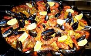 recette Râble de Petit capucin aux fruits de mer et de la terre et son riz