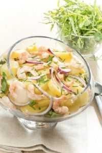 salade de pomme de terre et crevettes