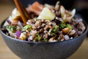 salade de riz poulet et pamplemousse
